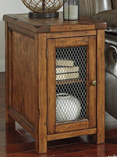 Tamonie Medium Brown Color Chair Side End (Dark Mango Side Table)