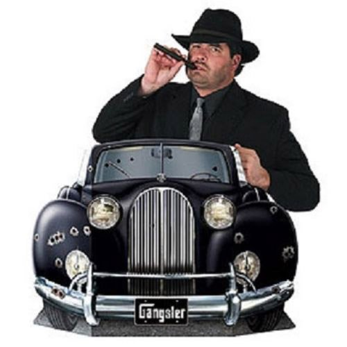 Gangster Car Photo Prop Party Accessory (1 count) (1/Pkg) ()