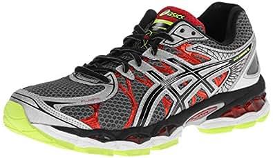 ASICS Men's Gel-Nimbus 16 Running Shoe,Titanium/Black/Red,8 M US
