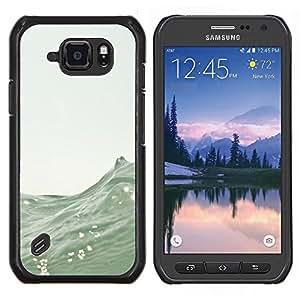 """S-type Olas Mar Surf Verano Naturaleza Barco"""" - Arte & diseño plástico duro Fundas Cover Cubre Hard Case Cover For Samsung Galaxy S6 active / SM-G890"""