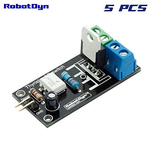 RobotDyn - 5PCS - Thyristor 1 channel AC Switch (Solid State Relay), 3.3V/5V logic, AC 110V/220V/5A (peak 10A)