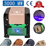 Laser Engraver, MYSWEETY 3000MW Mini DIY Laser Engraving Machine, Desktop Laser Engraver Printer, CNC Laser Carving Machine for Wood, Plastic, Bamboo, Rubber, Leather(Working Area: 8x8cm)