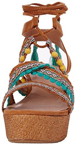 Marrón Correa Tobillo Collection Cuero Mujer para Etnica Keta Sandalias de MTNG con xwpaZUqwz