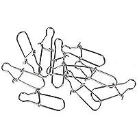 enganches giratorios 100 piezas de ganchos de plata con gancho para l/ínea de pesca plata TYKusm