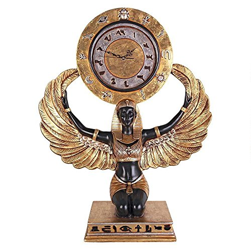 ChachaIn 1920s Egyptian Revival Goddess Isis Sculptural Grand Scale Mantel ()