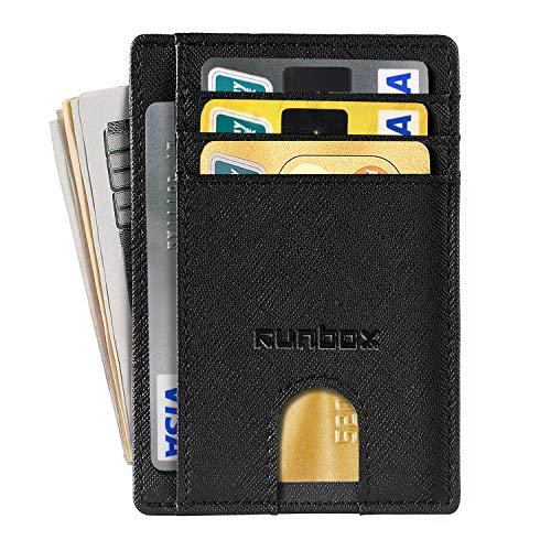 Slim Minimalist Front Pocket RFID Blocking Leather Wallets for Men