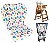 Twoworld Baby Stroller/Car / High Chair Seat Cushion Liner Mat Pad Cover Protector Colorful Willow Leaves Water Resistant