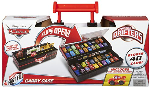 Disney Pixar Cars Micro Drifters Fast-Flip Carry Case