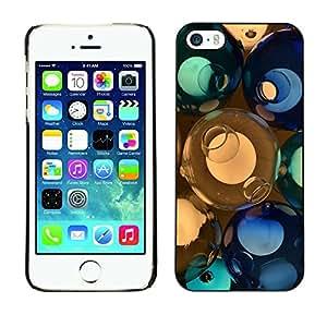Cubierta de la caja de protección la piel dura para el Apple iPhone 5 / 5S - Abstract Planet Landscape