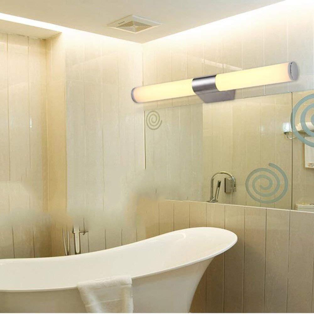Einfache, moderne Spiegel Scheinwerfer Badezimmer Schlafzimmer Edelstahl Spiegelschrank Licht- Wandleuchte Make-up-Lampe (46cm-10W, 54cm-12 W, 80 cm-20W) (Farbe  warmes Licht, Größe  80 cm-20W)