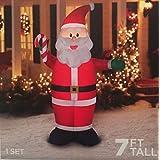 7 Ft. Tall Santa Clause Christmas Inflatable Lights Up Yard Decor Self-Inflates