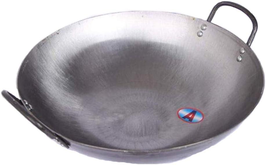Wok Revestimiento Antiadherente Antiadherente Para Olla De Hierro Doméstica Caldera Grande Para Cocinar Nueva Adecuado Para Estufa De Leña Restaurante Granja,50cm