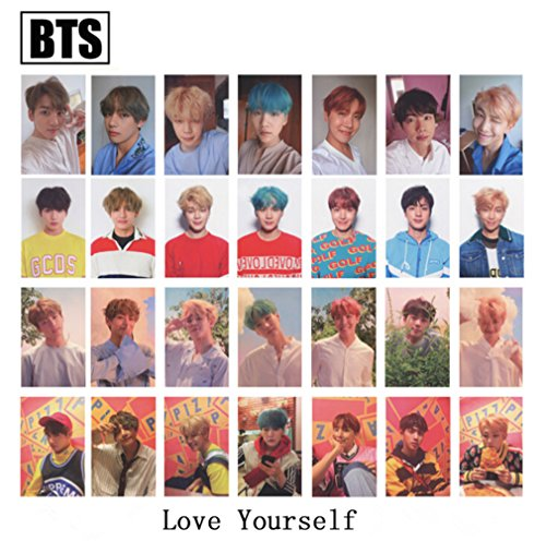 Kpop BTS Bangtan Boys [Love Yourself  'HER' ] Mini 5 Series Album Photo Postcard Lomo Cards Set Gift for A.R.M.Y (L+O+V+E)