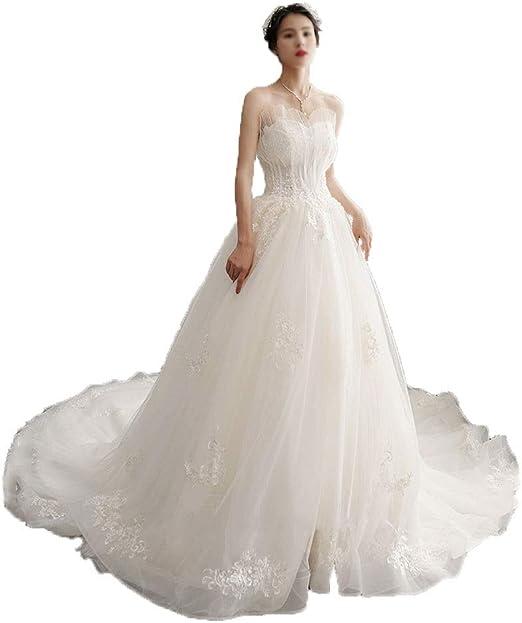 SMLSMGS Vestido de Novia Vestido de Novia Vestido de Hada Flor ...