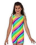 Pelle Gymnastics Biketard/Unitard - Rainbow Sparkle - C Small