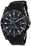 Bulova Men's 98B142 Precisionist Black Stainless Steel Watch With Black Rubber B