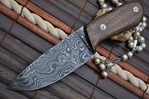 Perkin Knives Custom Handmade Damascus Hunting Knife