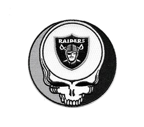 Raiders Steal Your Face Skull Embroidered Patch - Iron On