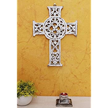 Amazon.com: storeindya Wooden Celtic Cross Long Wall Hanging French ...