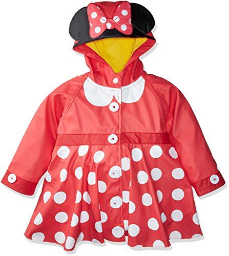 Western Chief Kids Disney Character lined Rain Jacket, Minnie Mouse, 4T