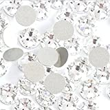 Crystal AB/Crystal Flatback Glass Rhinestones Glue Fix Nail Art Rhinestone Ab White Crystal 1440pcs/bag Shining Non Hotfix Flatback Rhinestone Decorations for Nails (ss20)