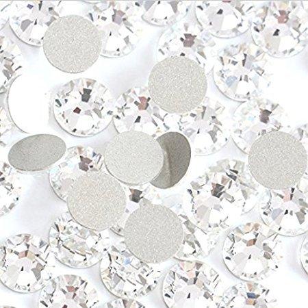 Crystal AB/Crystal Flatback Glass Rhinestones Glue Fix Nail Art Rhinestone Ab White Crystal 1440pcs/bag Shining Non Hotfix Flatback Rhinestone Decorations for Nails (ss16)