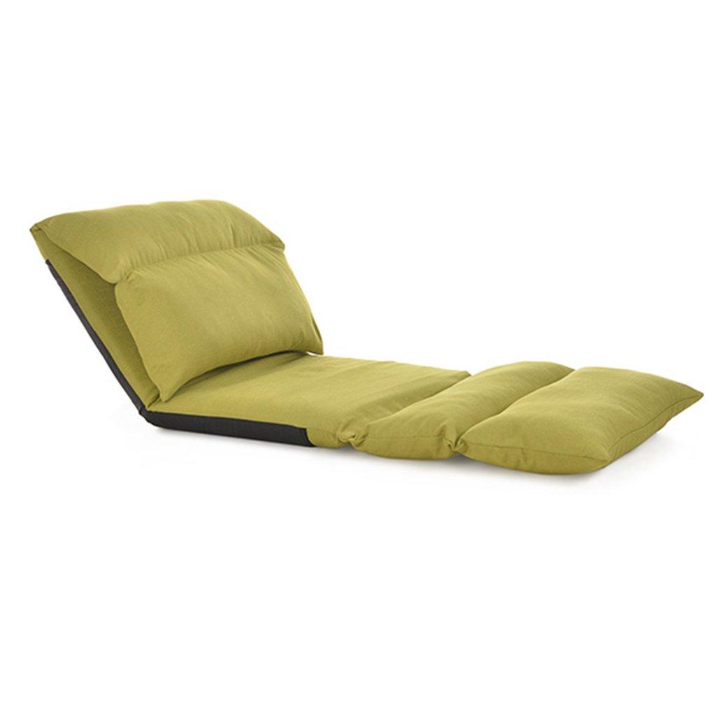 子供のためのバックサポート付きのソファーベッド、瞑想セミナーのための調節可能な怠惰なソファー、テレビを見るテレビゲーム、完全に組み立てられたリネン (色 : 青) B07DQJXZLK 青 青