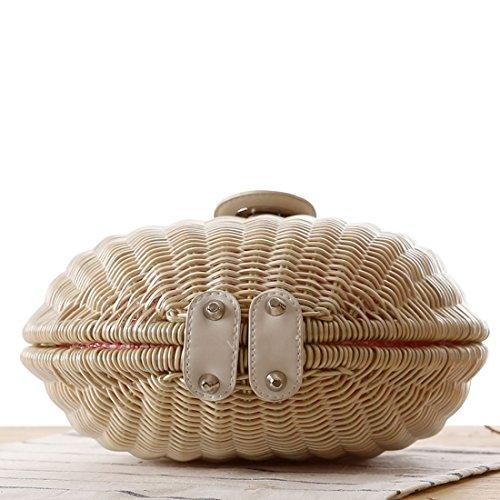 Purse for Red Summer bag Beach Bamboo Mini Women Handbag Handmade bag O1nqwgxz4