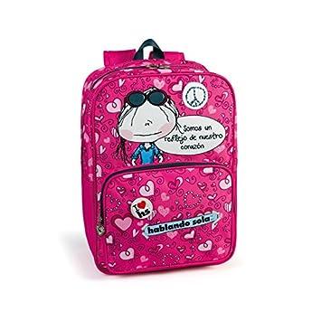 mochila escolar dos compartimentos porta PC Hablando Sola: Amazon.es: Equipaje