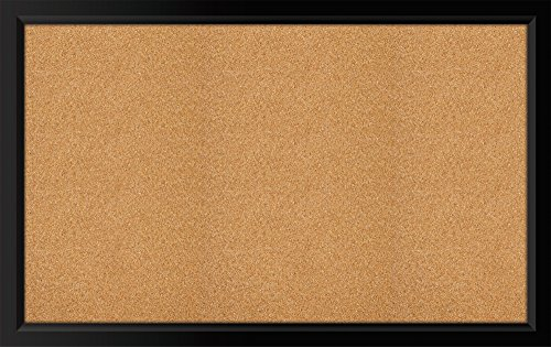 amazoncom the board dudes black framed cork board 35 x 22 bulletin boards office products