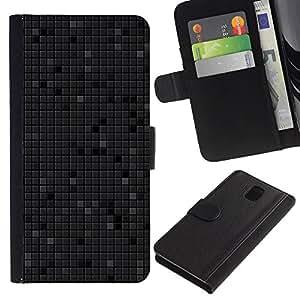 JackGot ( Semplice modello 14 ) Samsung Galaxy Note 3 III la tarjeta de Crédito Slots PU Funda de cuero Monedero caso cubierta de piel