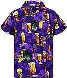 Funky Hawaiian Shirt , beer purple,3XL