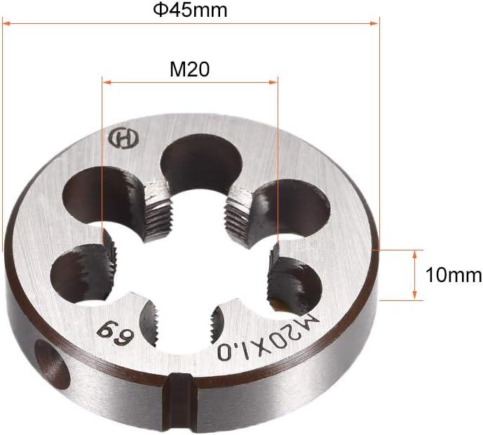 sourcing map M20 X 1 Metric Round Die Alloy Steel Machine Thread Right Hand Threading Die
