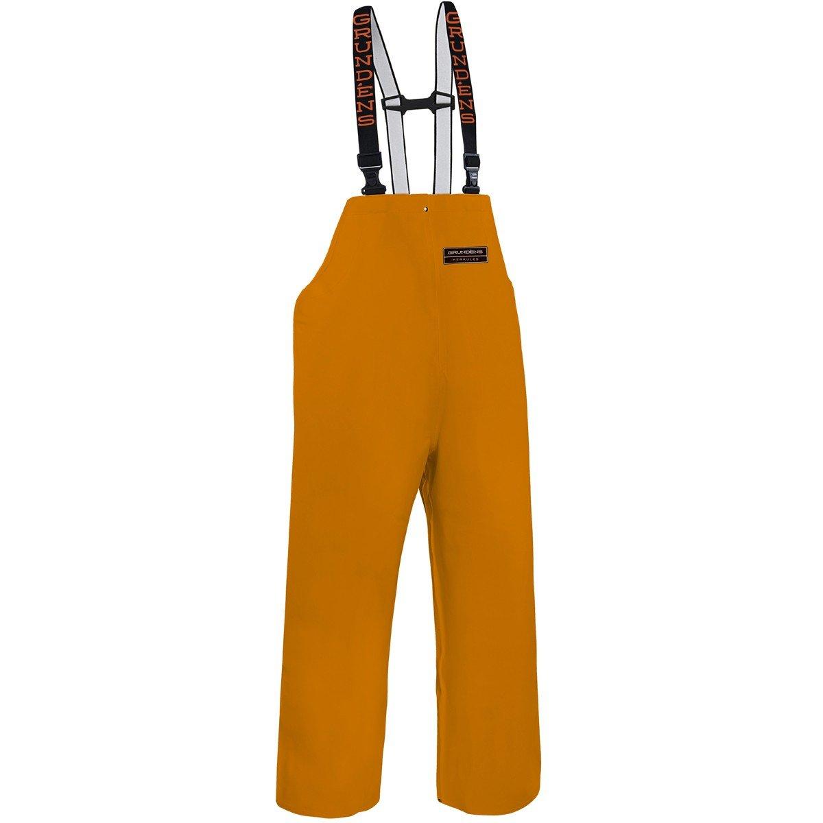 Grundens H16 Unisex Herkules 16 Bib Pants, Orange - 4XL
