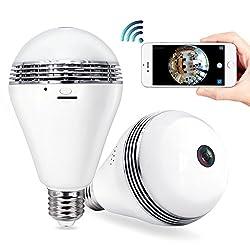 4. 360°Wide Angle Fisheye WiFi IP Hidden Camera Bulb