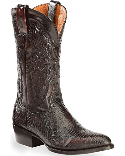 Dan Post Men's Raleigh Lizard Western Boot Medium Toe Black Cherry 10.5 D(M) US