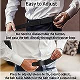 Nylon Ratchet Belt 2 Pack, Web Belts for Men Nylon