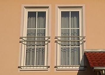 Franz/ösischer Balkon LYON V2A Edelstahl 156x90cm geb/ürstet