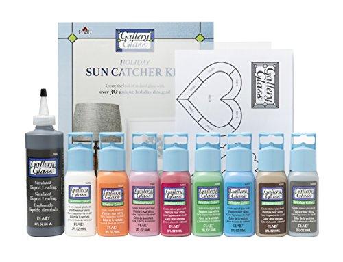 Plaid Enterprises, Inc. PROMOGG002 Gallery Glass Holiday Suncatcher Set (Plaid Glass Paint)
