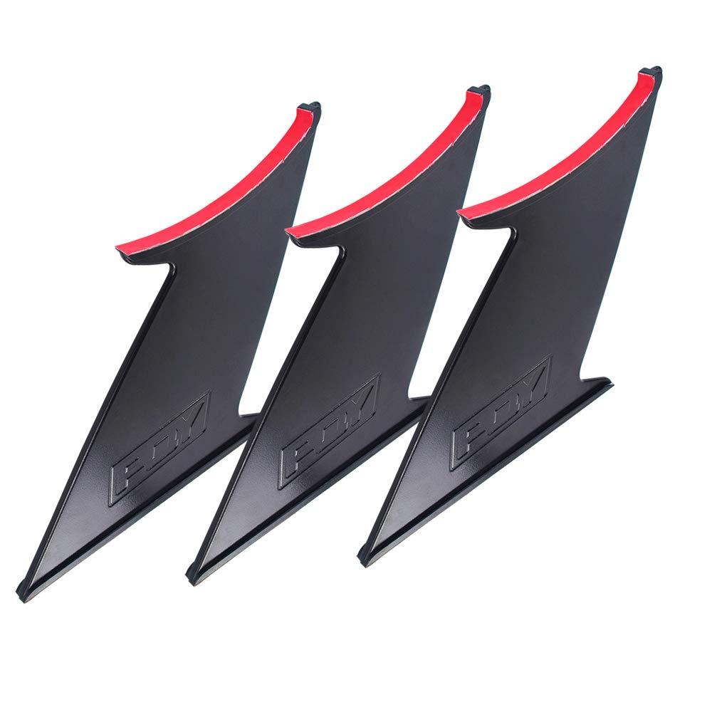 PQYRACING 2PCS Spoiler Wing Stabilizer for 2015-2019 Subaru WRX STi Sedan Spoiler Wing Stiffi Support Rally with PQY Logo