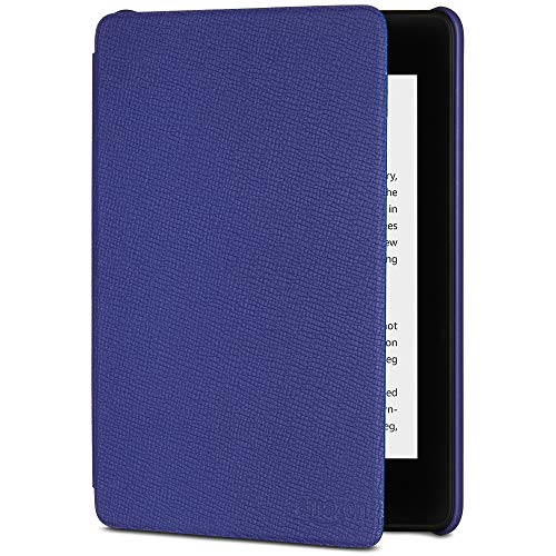 All-New Kindle Paperwhite Leather Cover (10th Generation-2018), Indigo Purple (Kindle Leather Cover Amazon)