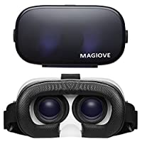 MAGIOVE 3D VR Glasses Virtual Reality Headset Mobile Phone 3D Movies for iPhone + Stereo Headphone from MAGIOVE