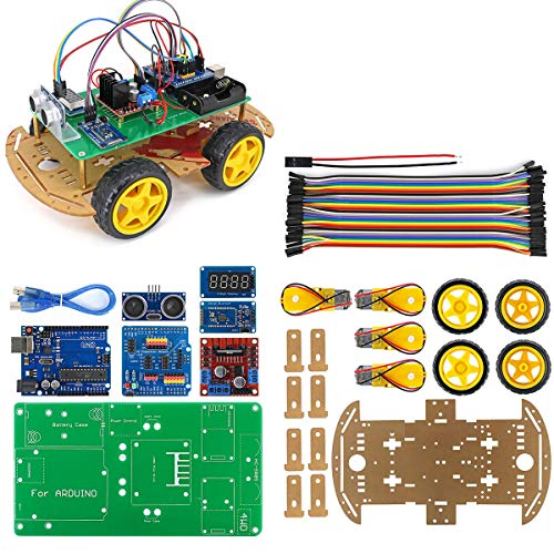 4WD Smart Robot Car Kit with Installation Tutorial