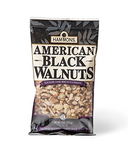 Sugar Free Chocolate Walnut - Hammons American Black Walnuts Fancy Large, 4-Ounce