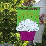 Cheap Celebrate Cupcake Flag (Regular Size)