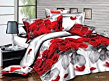7 Piece Set Red Rose and Love Heart 3d Comforter Set Including Matching 3d ...