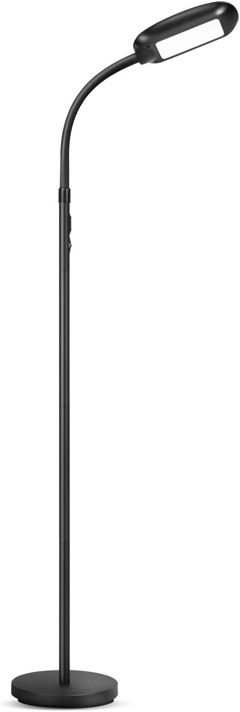 Nekteck LED Floor Lamp for Living Room, Bedroom and Office, Bright Lighting Adjustable Dimmable Modern Reading Floor Lamp with Touch Control, 3000K-6500K 4 Color Temperatures and 5 Level Brightness