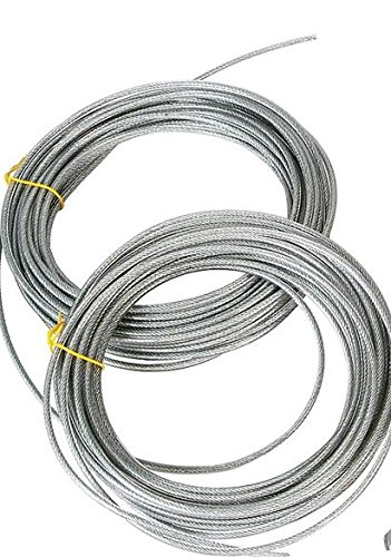 Shenandoah Homestead Supply 50-250 Ft Clothesline Cable, Vinyl Coated Heavy Duty 2000 Lb. Flexible, Long-lasting the Best for Washline Pulleys (50 ft)
