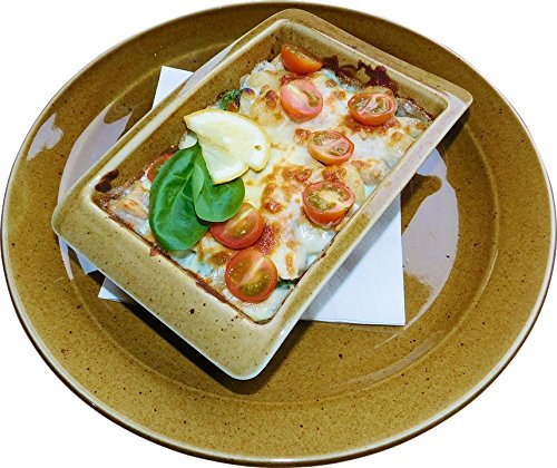 Home Comforts Peel-n-Stick Poster of Plate Spinach Italian Food Cheese Baked Gnocchi Vivid Imagery Poster 24 x 16 Adhesive Sticker Poster Print