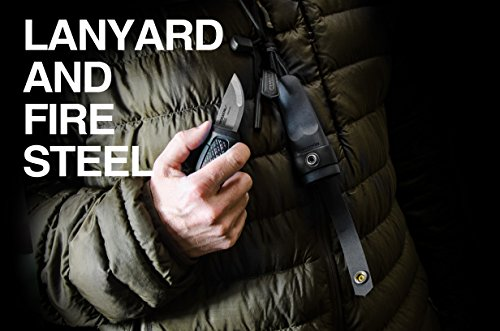 Morakniv Eldris Fixed-Blade Pocket-Sized Knife with Sandvik Stainless Steel Blade, Lanyard and Firestarter, Black, 2.2 Inch